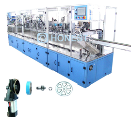 Automatic assembly line of gear reducer motor