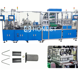 Automatic assembly machine for motor magnetic shoe